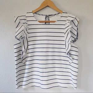 Anthro 9-H15 StCL NWOT Striped Top
